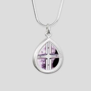 Surveillance - Silver Teardrop Necklace