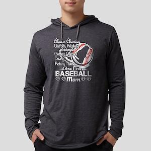 Baseball Mom Tshirt Mens Hooded Shirt