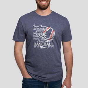 Baseball Mom Tshirt Mens Tri-blend T-Shirt