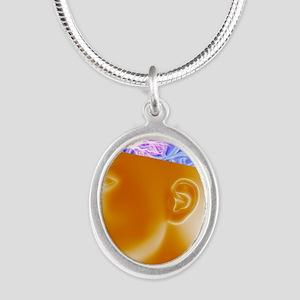 Epilepsy - Silver Oval Necklace