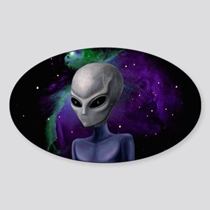 Alien Nebula Rectangle Sticker