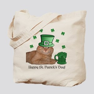 Cute Orange Kitty Cat St. Patricks Tote Bag