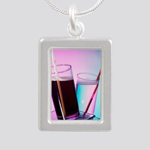 Fizzy drinks - Silver Portrait Necklace