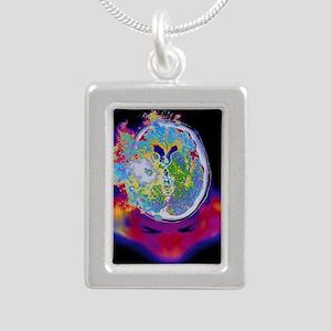 Brain malfunction - Silver Portrait Necklace
