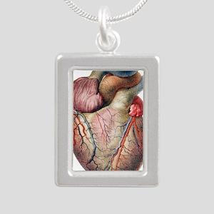 Heart - Silver Portrait Necklace