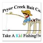 "Pryor Creek Bait Company Square Car Magnet 3"""
