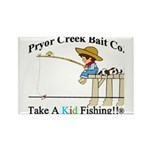 Pryor Creek Bait Company Rectangle Magnet (100 pac
