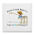 Pryor Creek Bait Company Tile Coaster