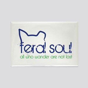 Feral Soul Rectangle Magnet