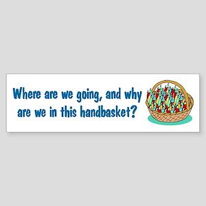 Handbasket Bumper Sticker
