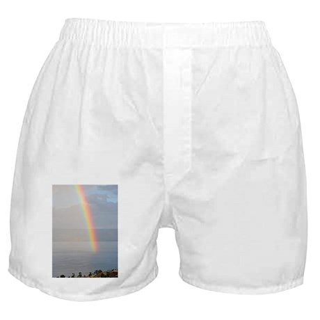 Rainbow over Sea of Galilee - Boxer Shorts