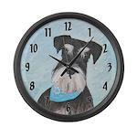 Schnauzer (Miniature) Large Wall Clock