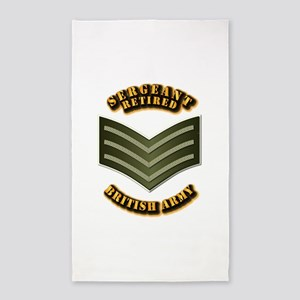 UK - Army - Sergeant - Retired 3'x5' Area Rug