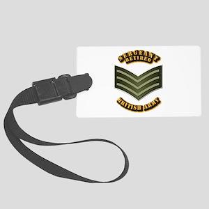 UK - Army - Sergeant - Retired Large Luggage Tag