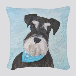 Schnauzer (Miniature) Woven Throw Pillow
