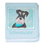 Schnauzer (Miniature) baby blanket