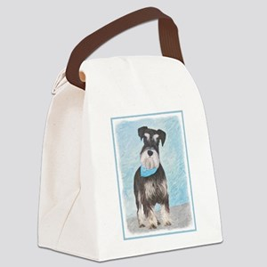 Schnauzer (Miniature) Canvas Lunch Bag