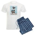 Schnauzer (Miniature) Men's Light Pajamas