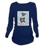 Schnauzer (Miniature Long Sleeve Maternity T-Shirt