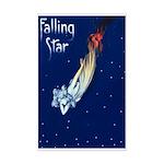 Falling Star Mini Poster Print