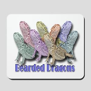 Bearded Dragon Colors Mousepad