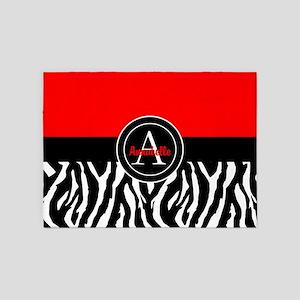 Red Zebra 5'x7'area Rug