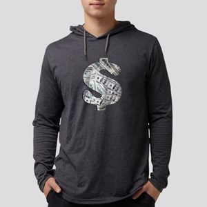 Money - Hundred Dollar Bills Mens Hooded Shirt