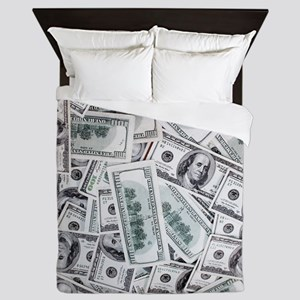 Money - Hundred Dollar Bills Queen Duvet