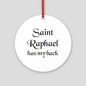 saint raphael Round Ornament