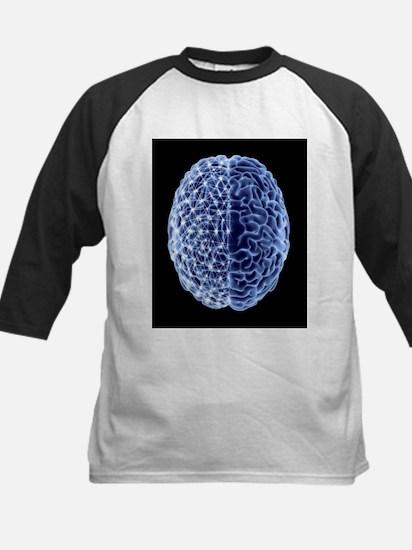 Brain, neural network - Kids Baseball Jersey