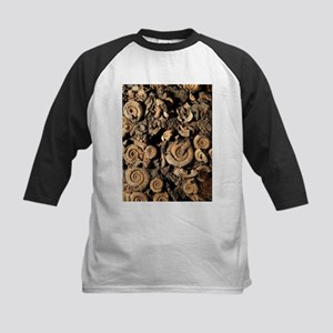 Fossilised ammonites - Kids Baseball Jersey