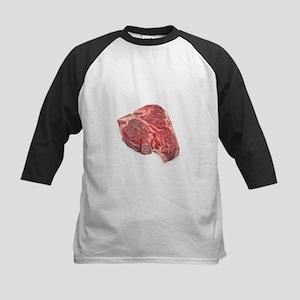 Raw T-bone steak - Kids Baseball Jersey