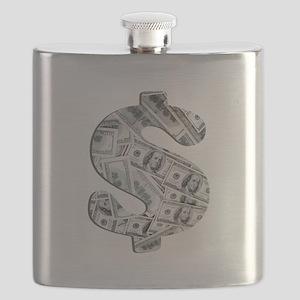 Money - Hundred Dollar Bills Flask