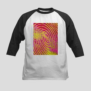 a human fingerprint - Kids Baseball Jersey