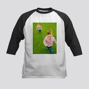 Identical twin girls - Kids Baseball Jersey