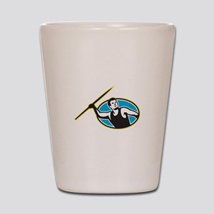 Javelin Throw Track and Field Athlete Shot Glass
