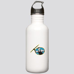 Javelin Throw Track and Field Athlete Water Bottle