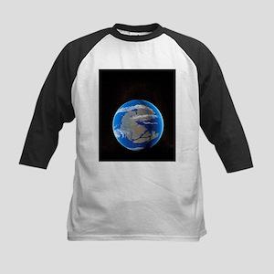 Earth at time of Pangea - Kids Baseball Jersey