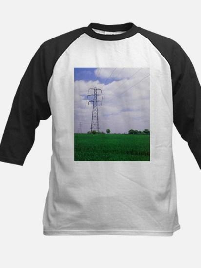 Electricity pylons - Kids Baseball Jersey