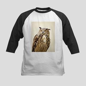 European eagle owl - Kids Baseball Jersey