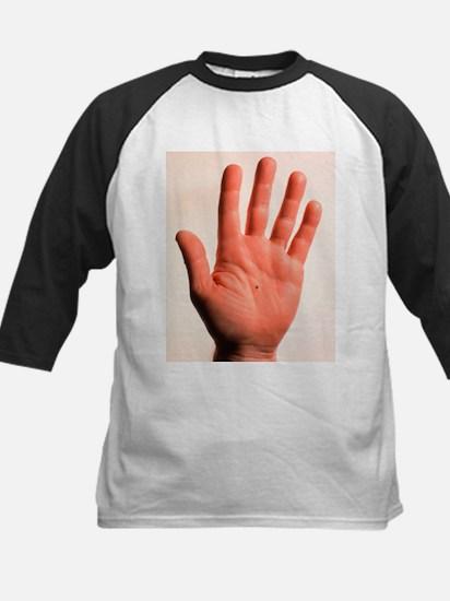 Hand holding microcogs - Kids Baseball Jersey