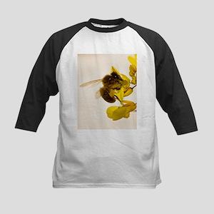 Honey bee feeding - Kids Baseball Jersey