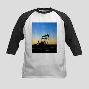 Oil well pump - Kids Baseball Jersey