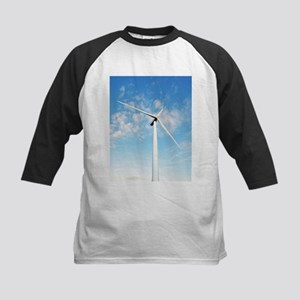 Wind turbine, Denmark - Kids Baseball Jersey