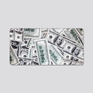 Money - Hundred Dollar Bill Aluminum License Plate