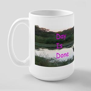 """Elephant """"Day Is Done"""" Large Mug"""
