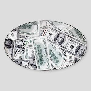 Money - Hundred Dollar Bills Sticker