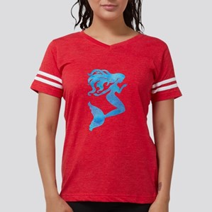 Watercolor Mermaid Womens Football Shirt