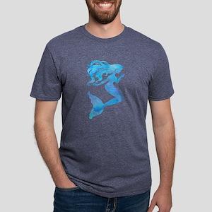 Watercolor Mermaid Mens Tri-blend T-Shirt