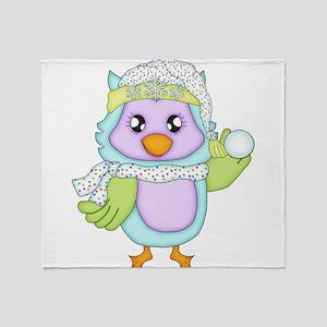 Keepsake Owl Throw Blanket